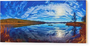 Morning Reflections At The Moosehorn Wood Print