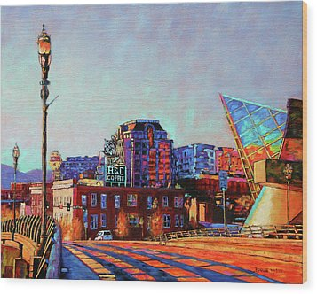 Morning Rush - The Corner Of Salem Avenue And Williamson Road In Roanoke Virginia Wood Print