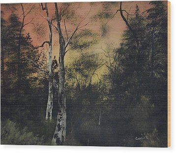 Morning Wood Print by Shawn Cooper