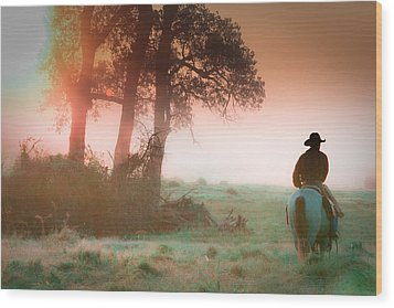 Morning Solitude Wood Print by Toni Hopper