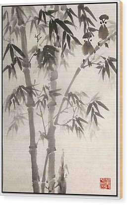 Wood Print featuring the painting Morning Song by Ping Yan