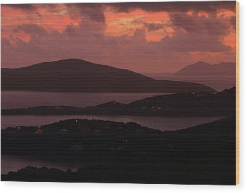 Wood Print featuring the photograph Morning Sunrise From St. Thomas In The U.s. Virgin Islands by Jetson Nguyen