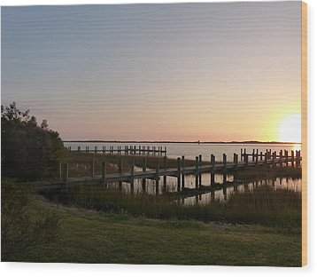 Wood Print featuring the photograph Morning Sunrise Over Assateaque Island by Donald C Morgan