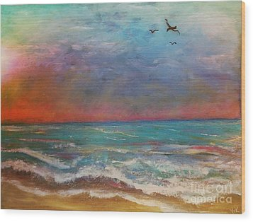 Wood Print featuring the painting Morning Sunrise by Vickie Scarlett-Fisher