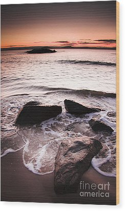 Wood Print featuring the photograph Morning Tide by Jorgo Photography - Wall Art Gallery