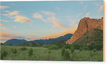 Wood Print featuring the photograph Morning View by Tim Reaves