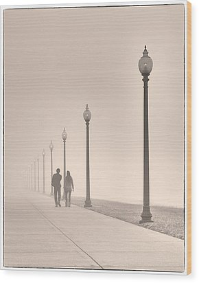 Morning Walk Wood Print by Don Spenner