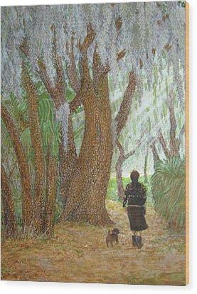 Morning Walk Wood Print by Jim Soldo
