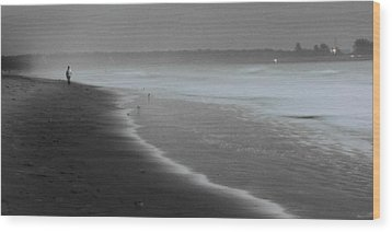 Wood Print featuring the photograph Morning Walk by Ron Dubin