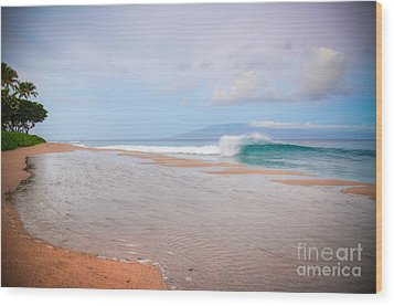 Wood Print featuring the photograph Morning Wave by Kelly Wade