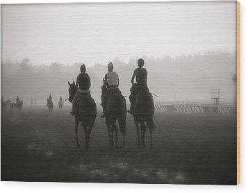 Morning Workout Saratoga Ny Wood Print by Amanda Lonergan