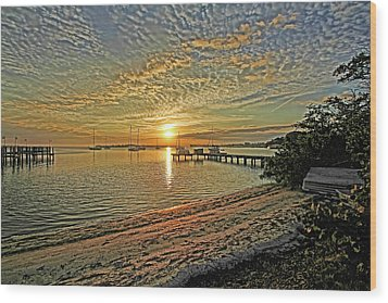Wood Print featuring the photograph Mornings Embrace by HH Photography of Florida