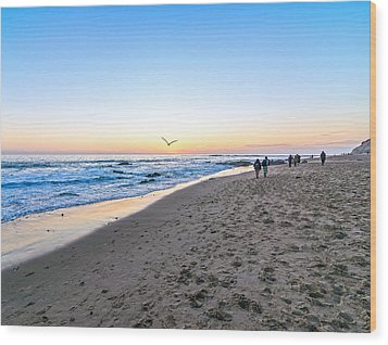 Wood Print featuring the photograph Moro Sunset by Anthony Baatz