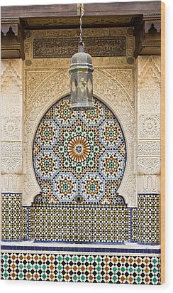 Moroccan Fountain Wood Print by Tom Gowanlock