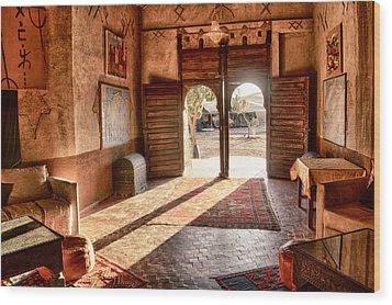 Moroccan Kasbah Wood Print