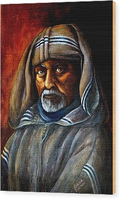 Moroccan Man Wood Print