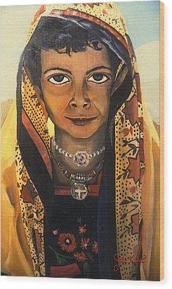 Moroccan Smile Wood Print by John Keaton