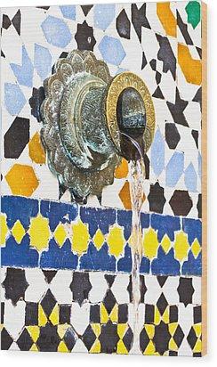 Moroccan Tap Wood Print