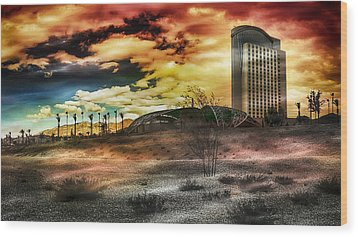 Morongo Casino Sunset Wood Print