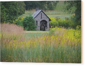 Wood Print featuring the photograph Morris Arboretum Mill In September by Bill Cannon