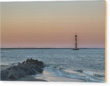 Morris Island Lighthouse Wood Print by Drew Castelhano