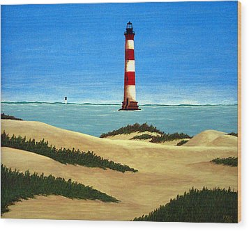 Morris Island Lighthouse Wood Print by Frederic Kohli
