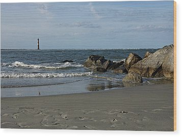 Wood Print featuring the photograph Morris Lighthouse by Sandy Keeton