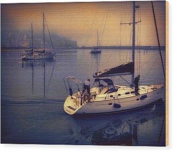 Wood Print featuring the photograph Morro Bay Dawn by Douglas MooreZart