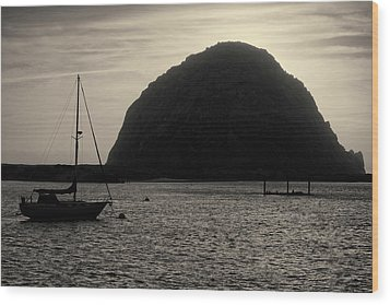 Morro Bay I Toned Wood Print by David Gordon