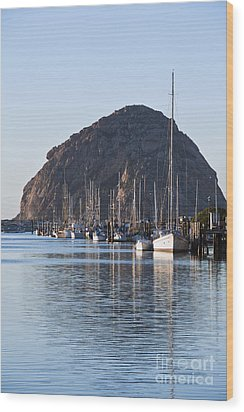 Morro Bay Sailboats Wood Print by Bill Brennan - Printscapes