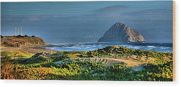 Morro Rock And Beach Wood Print by Steven Ainsworth