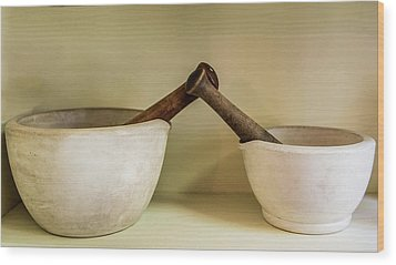 Wood Print featuring the photograph Mortar And Pestle by Paul Freidlund