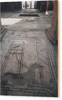 Mosaic In Pompeii Wood Print by Marna Edwards Flavell