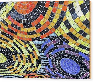 Mosaic No. 113-1 Wood Print
