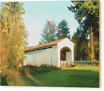 Mosby Creek Covered Bridge Wood Print