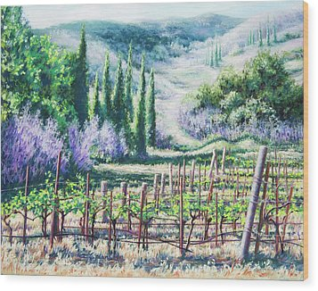 Mosby's Vines On Santa Rita Hills Wood Print