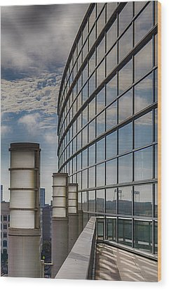 Wood Print featuring the photograph Moscone West Balcony by Darcy Michaelchuk