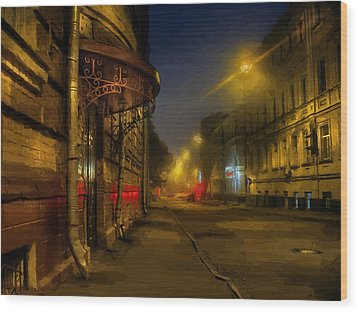 Wood Print featuring the photograph Moscow Steampunk Sketch by Alexey Kljatov