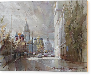 Moscow. Varvarka Street. Wood Print