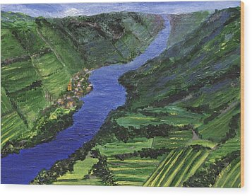 Wood Print featuring the painting Moselle River by Jamie Frier