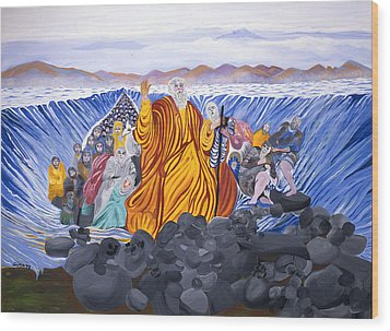 Wood Print featuring the painting Moses by Sima Amid Wewetzer