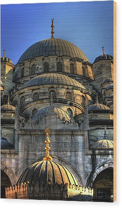 Wood Print featuring the photograph Mosque by Tom Prendergast