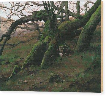 Mossy Oak Wood Print by Bill Mather