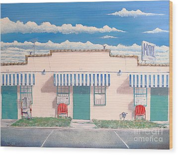 Motel Six . 1989 Wood Print by Wingsdomain Art and Photography
