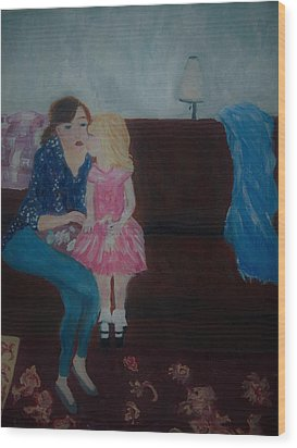 Mother And Child, Wood Print by Aleezah Selinger