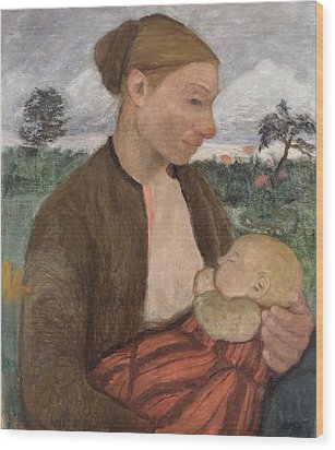 Mother And Child Wood Print by Paula Modersohn Becker