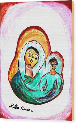 Mother And Child Wood Print by Ramona Matei
