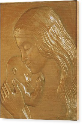 Mother And Child Relief  Wood Print