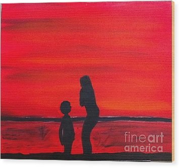 Mother And Child Wood Print by Rod Jellison