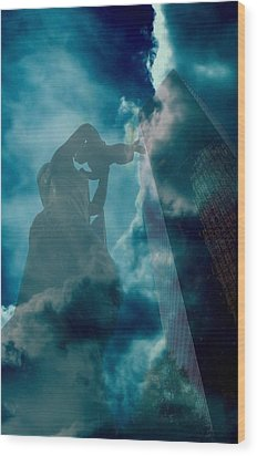 Mother Charlotte Wood Print by Diane Payne